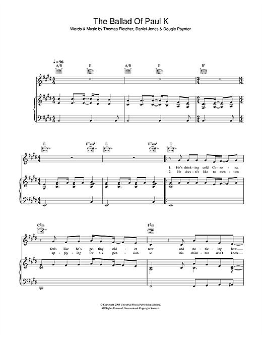 The Ballad Of Paul K sheet music