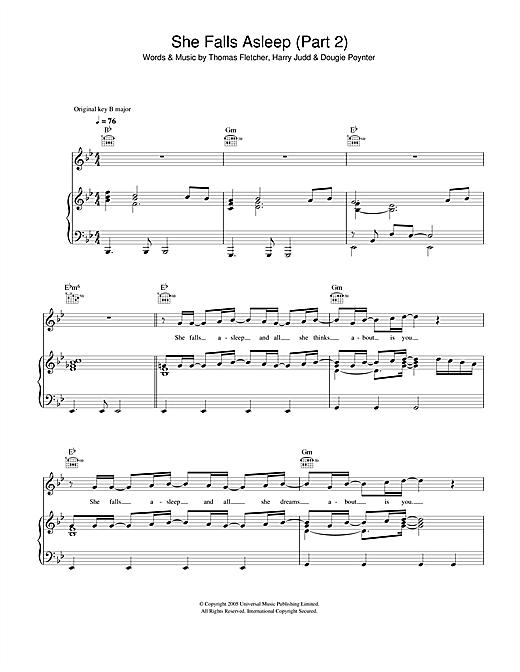 She Falls Asleep Part 2 sheet music