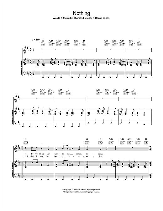 Nothing sheet music
