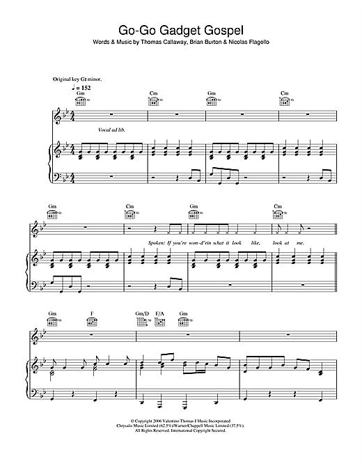 Go-Go Gadget Gospel sheet music
