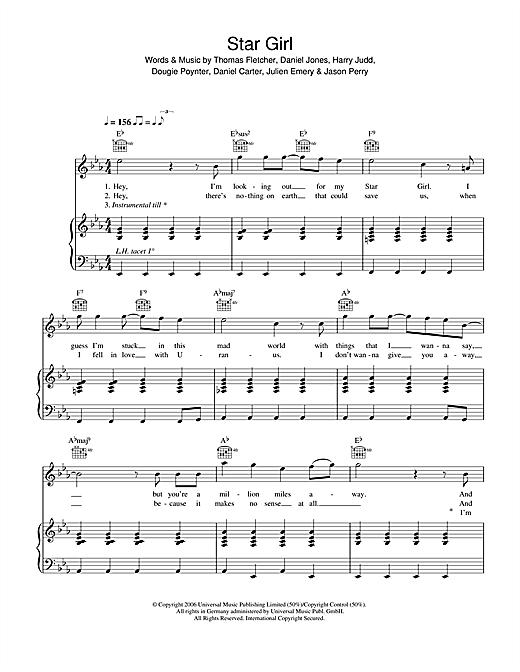 Star Girl sheet music