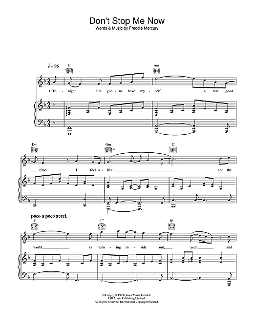 Don't Stop Me Now sheet music
