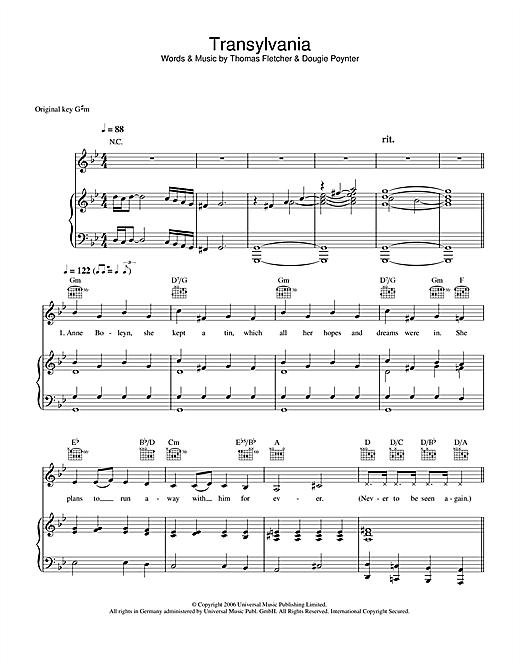 Transylvania sheet music