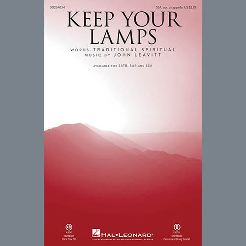 John Leavitt, Keep Your Lamps Trimmed And Burning, SSA Choir