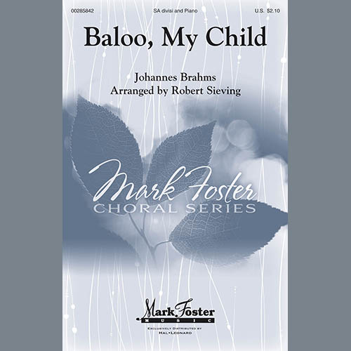 Brahms, Johannes, Baloo, My Child (arr. Robert Sieving), 2-Part Choir