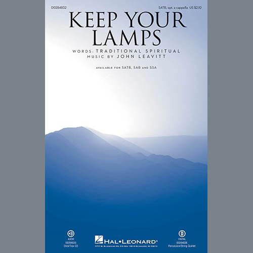 John Leavitt, Keep Your Lamps Trimmed And Burning, SATB Choir