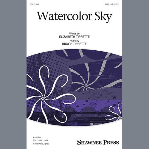 Bruce Tippette & Elizabeth Tippette, Watercolor Sky, SATB Choir