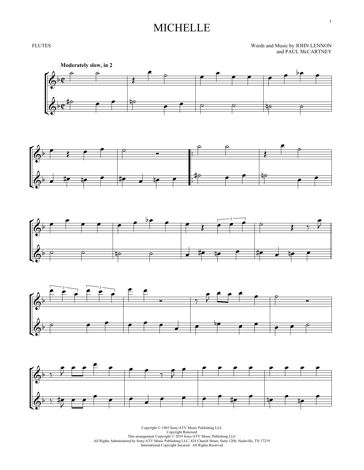graphic relating to Printable Flute Sheet Music titled The Beatles Mice Sheet Tunes Notes, Chords Down load Printable Flute Duet - SKU: 412693