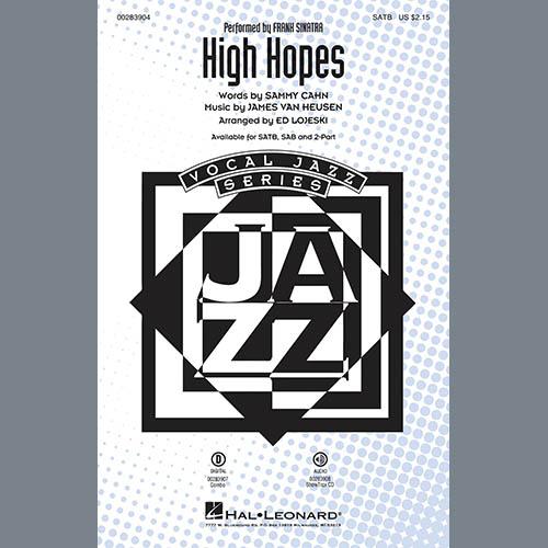 Frank Sinatra, High Hopes (arr. Ed Lojeski) - Bb Trumpet 2, Choir Instrumental Pak