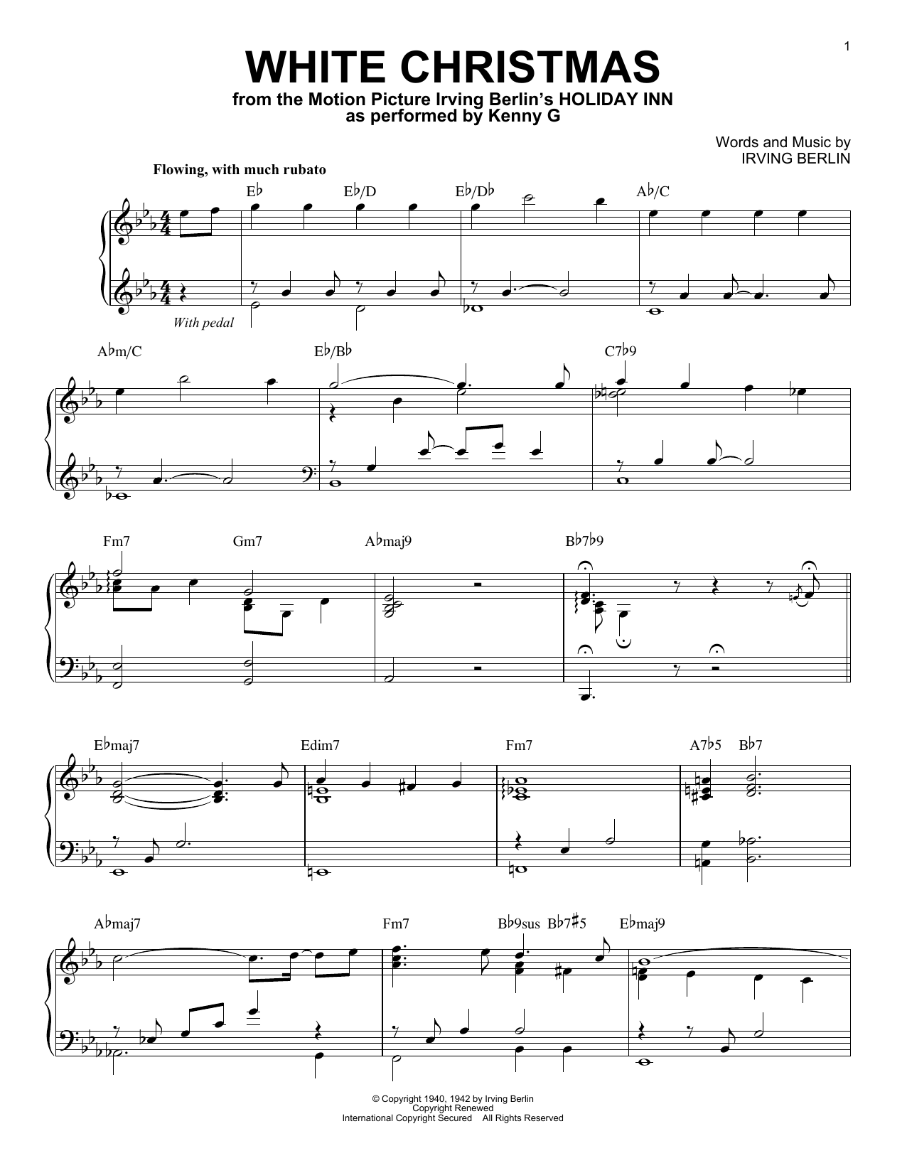 White Christmas Sheet Music.Kenny G White Christmas Sheet Music Notes Chords Download Printable Piano Solo Sku 415734