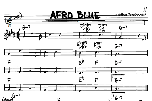 John Coltrane 'Afro Blue' Sheet Music Notes, Chords | Download Printable  Real Book - Melody & Chords - Bb Instruments - SKU: 61402