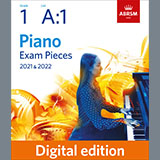 Download Anon. 'A Toy (Grade 1, list A1, from the ABRSM Piano Syllabus 2021 & 2022)' printable sheet music notes, Classical chords, tabs PDF and learn this Piano Solo song in minutes