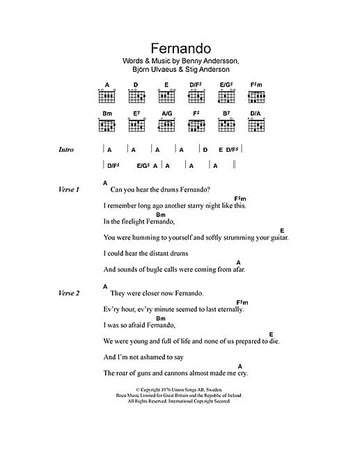 Fernando sheet music