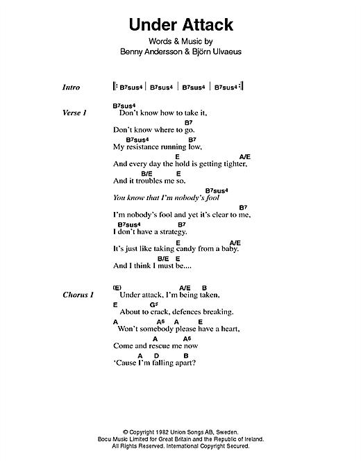 Under Attack sheet music