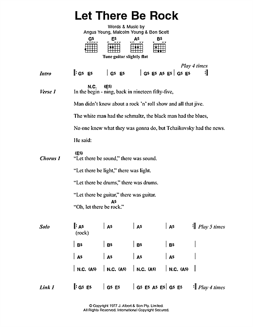 Let There Be Rock sheet music