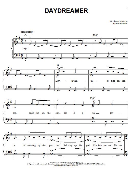 Daydreamer sheet music