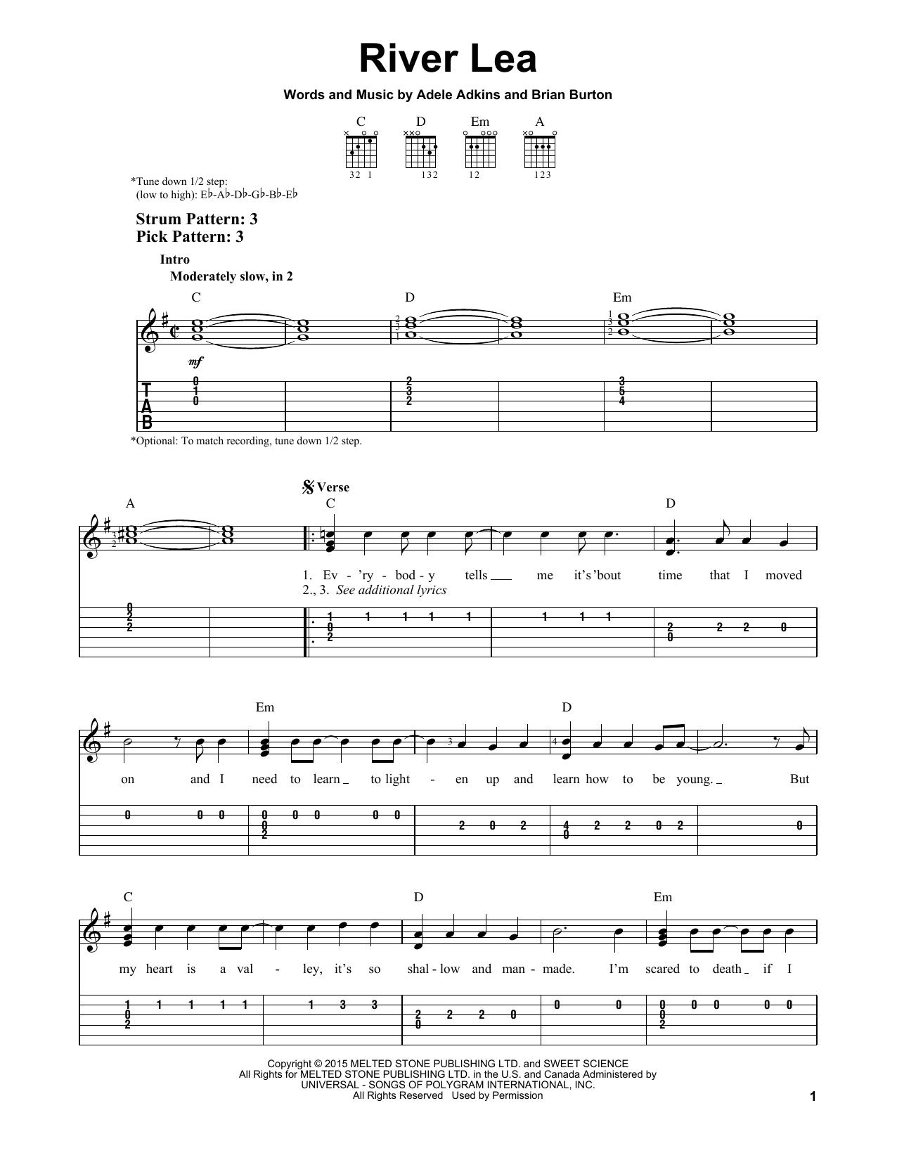 River Lea sheet music