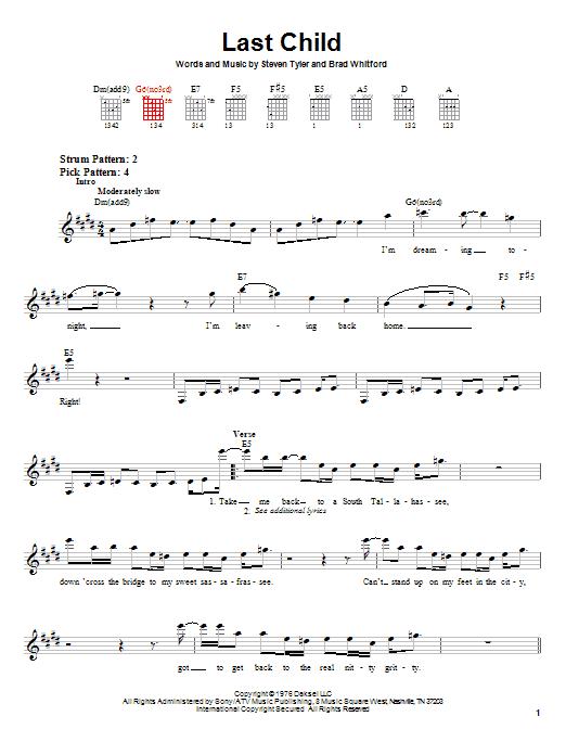 Last Child sheet music