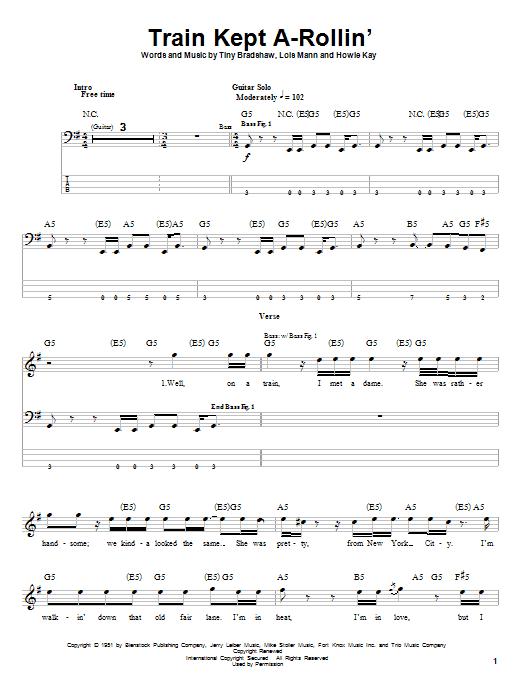 Train Kept A-Rollin' sheet music