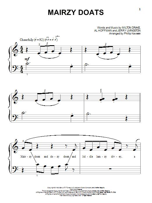 Mairzy Doats sheet music