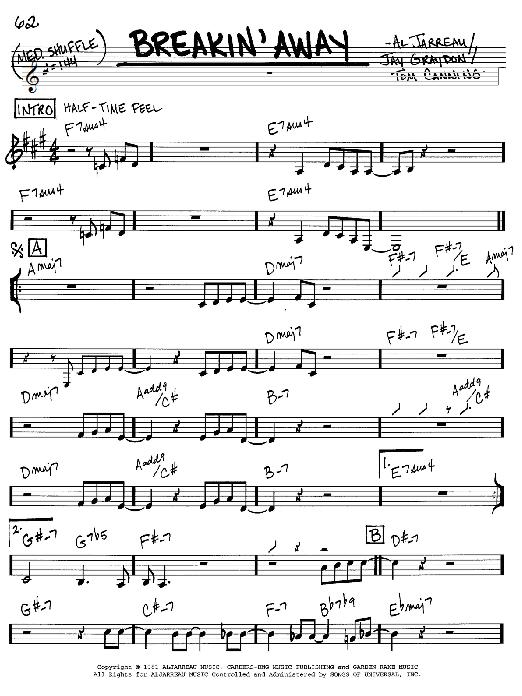 Breakin' Away sheet music