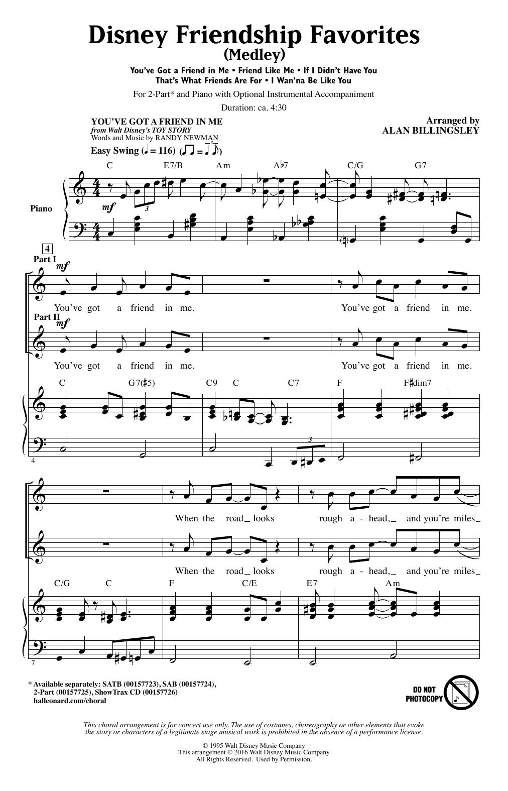 Disney Friendship Favorites (Medley) sheet music