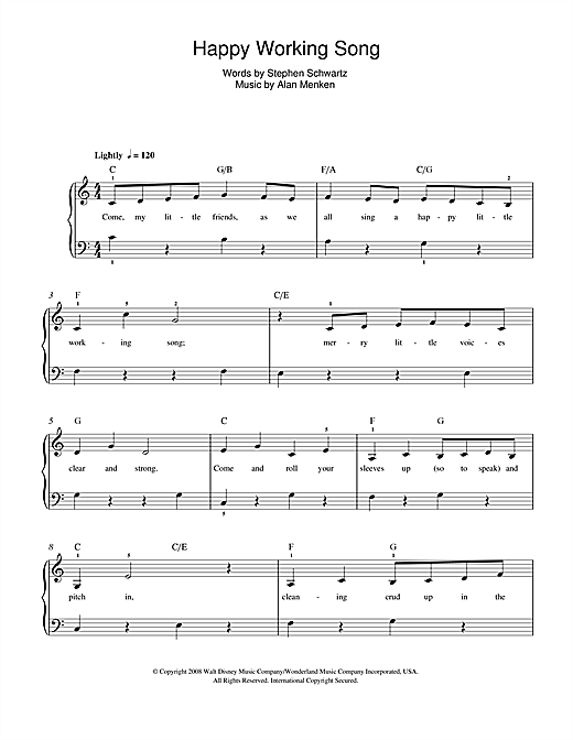 Happy Working Song (from Enchanted) sheet music