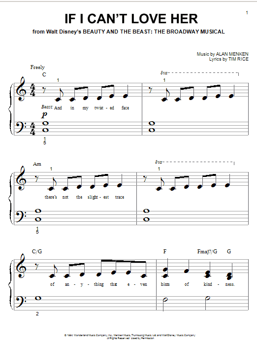 If I Can't Love Her sheet music