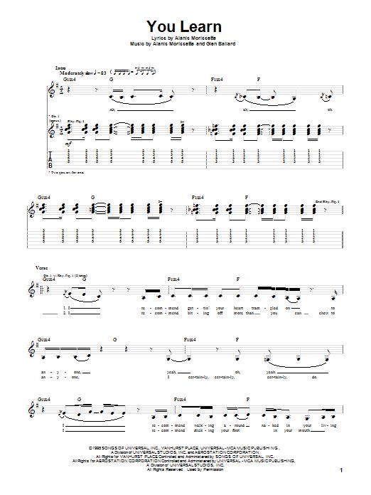 You Learn sheet music