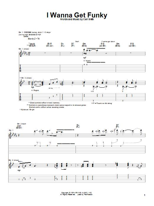 I Wanna Get Funky sheet music
