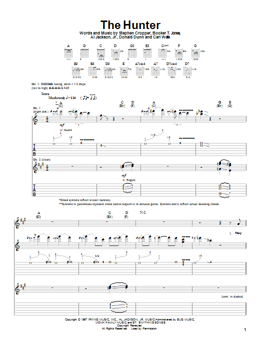 The Hunter sheet music