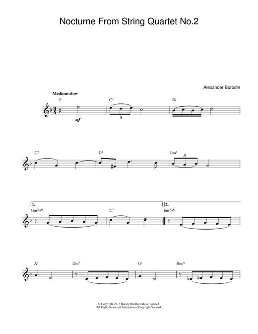 Nocturne From String Quartet No.2 sheet music