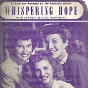 Alice Hawthorne, Whispering Hope, Piano, Vocal & Guitar (Right-Hand Melody)