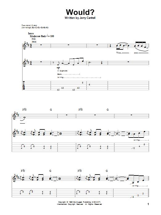 Would? sheet music