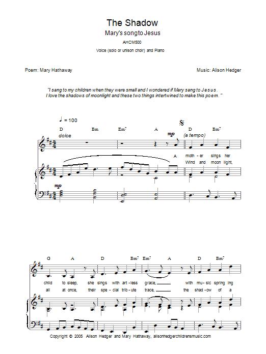 The Shadow sheet music