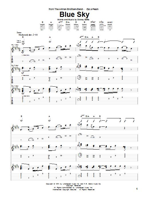 Blue Sky sheet music