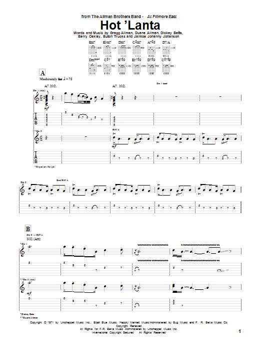 Hot 'Lanta sheet music