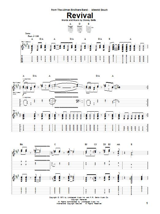 Revival sheet music