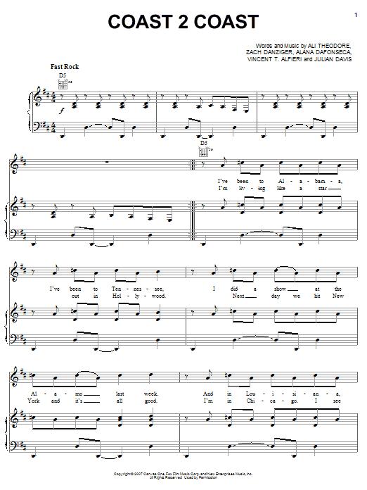 Coast 2 Coast sheet music