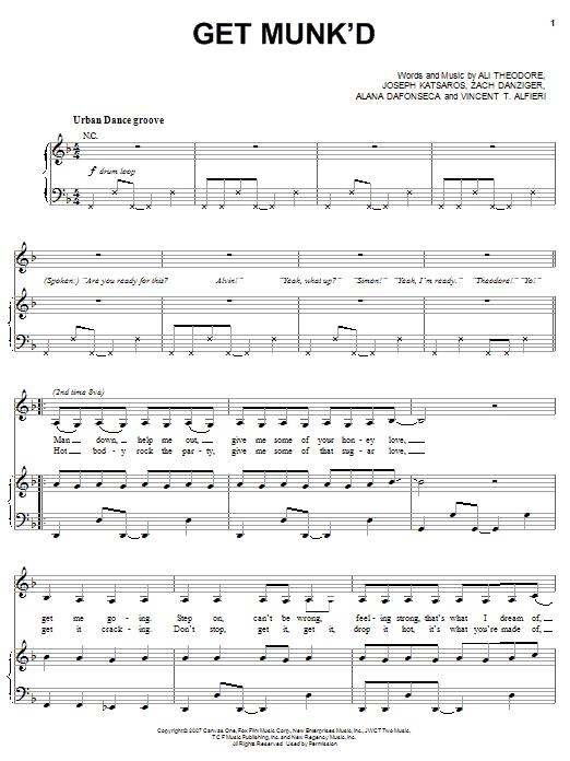 Get Munk'd sheet music