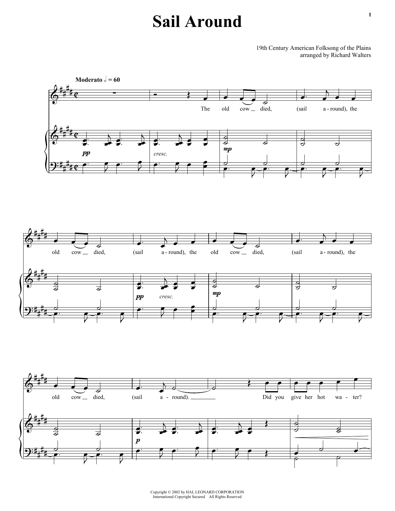 Sail Around sheet music