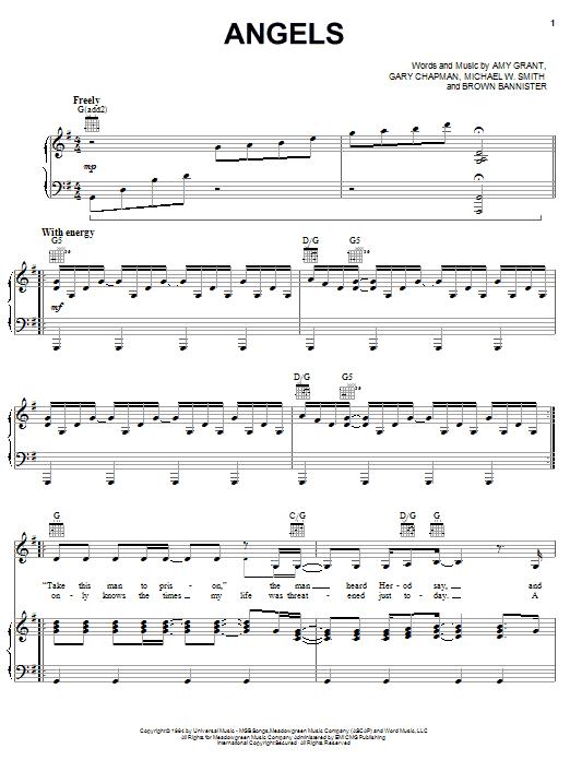 Angels sheet music