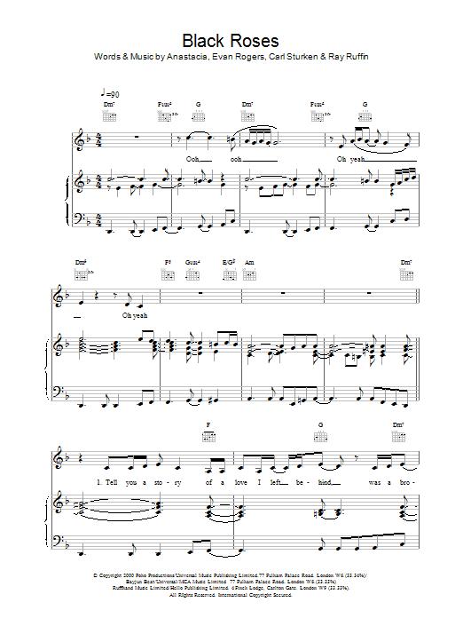 Black Roses sheet music