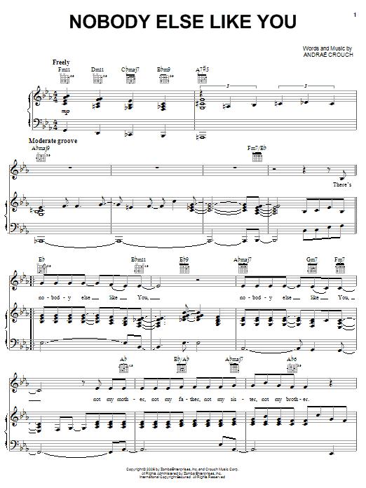 Nobody Else Like You sheet music
