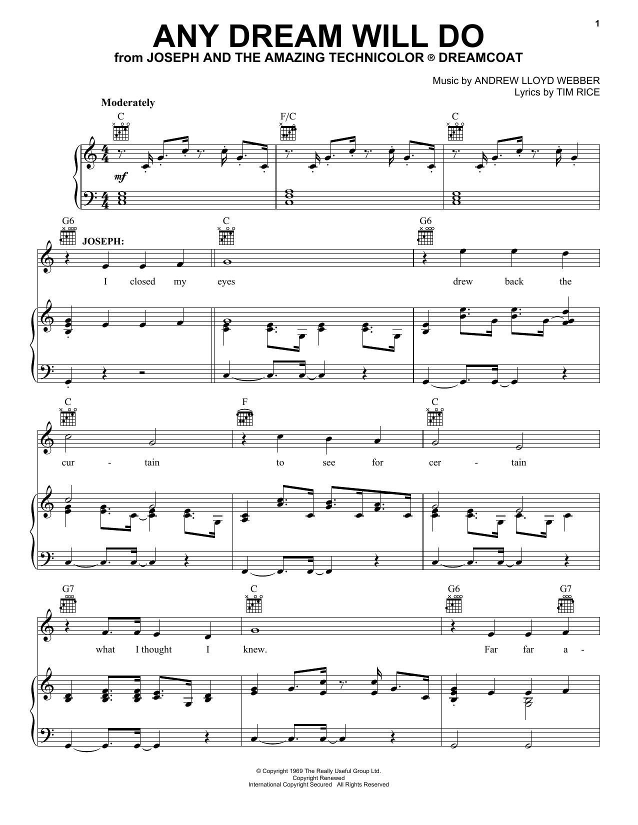 Any Dream Will Do sheet music