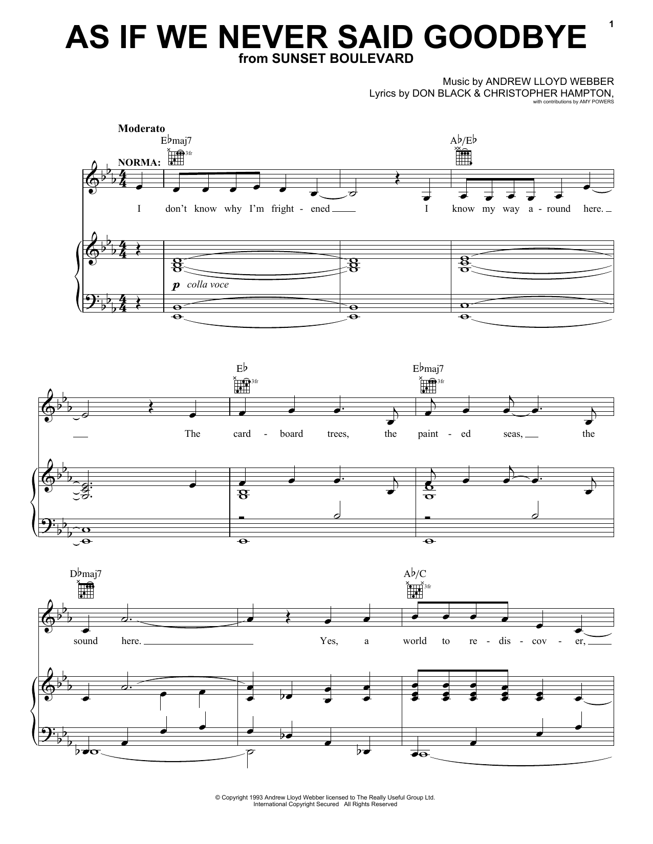 As If We Never Said Goodbye sheet music