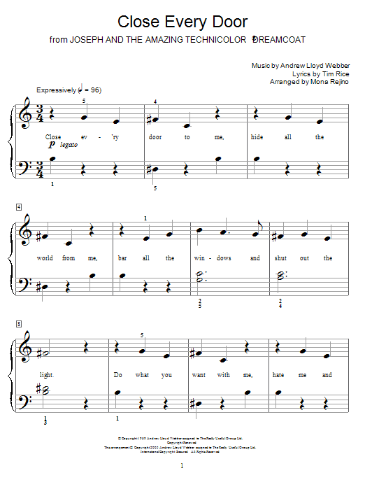 Close Every Door sheet music