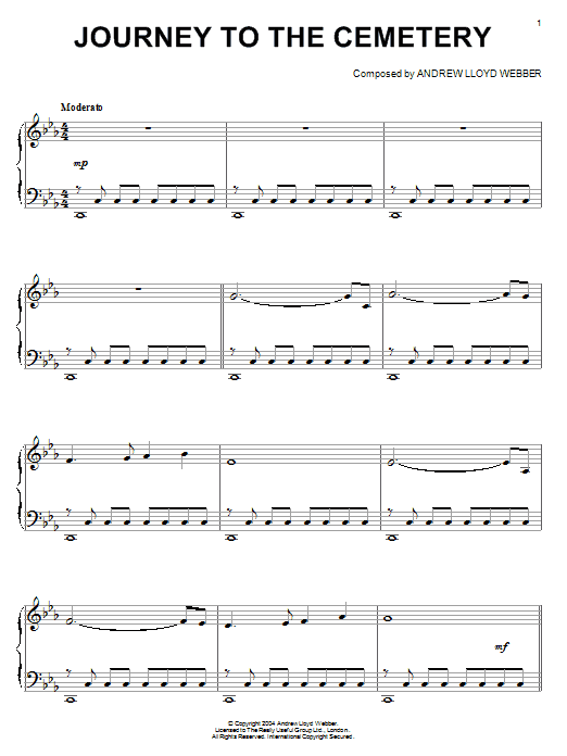 Journey To The Cemetery sheet music