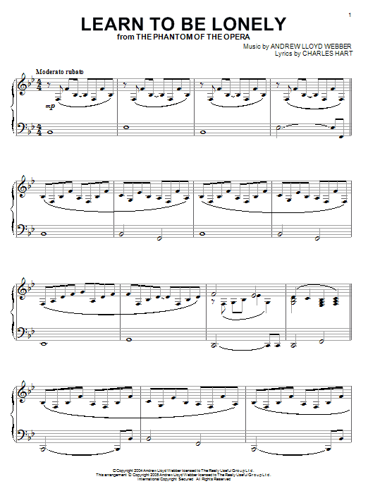 Learn To Be Lonely sheet music
