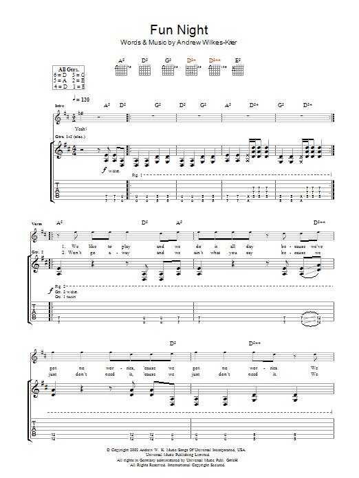 Fun Night sheet music